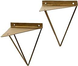 WaiMin Meubilair Component Gouden Driehoek Beugel Wandrek Statief Keuken Metalen Beugel Wandmontage Gleufplank Ondersteuni...