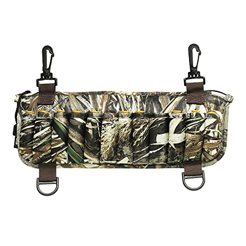 8 Fans Waders Shell Holder,Realtree Max-5 Camo Neoprene Shell Bag with 24 Shell Loops for Marsh Duck Hunting