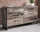 Signature Design by Ashley Neilsville Industrial Butcher Block Style Dresser, Natural Pallet Brown