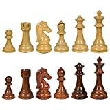 Ellis High Polymer Weighted Chess Pieces with 3.75 Inch King and Extra Queens, Pieces Only, No Board