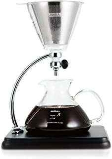 Yama Glass Yama Silverton Coffee/Tea with Stainless Cone Filter, Clear