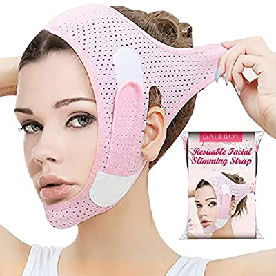 Double Chin Reducer, Face Slimming Strap, V Line Lifting Mask Chin Strap for Women and Men, Anti-Wrinkle Face Mask for Double Chin and Shaggy Face Skin by GALEBOY
