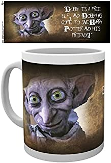1art1 Set: Harry Potter, Dobby is A Free Elf and Dobby Has Come to Save Harry Potter and His Friends Photo Coffee Mug (4x3 inches) and 1x Surprise Sticker