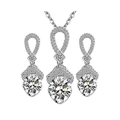 GYJUN Ensemble de collier Fashion diamants boucles d'oreilles , one size