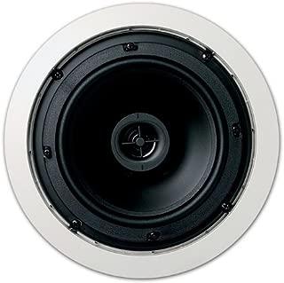 Jamo 6.5CS in Ceiling Surround Sound Home Theater Speaker, Pair, Round