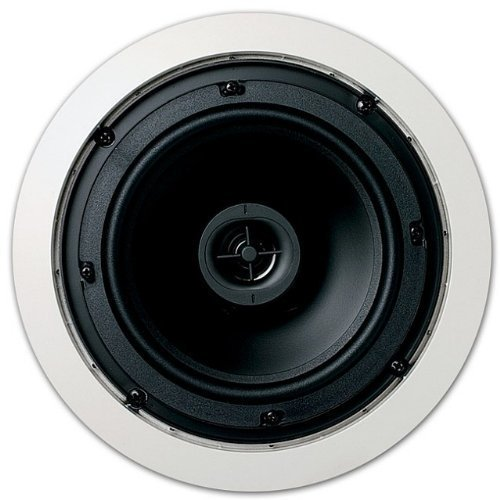 Jamo 6.5CS in Ceiling Surround Sound Home Theater Speaker, Pair, Round