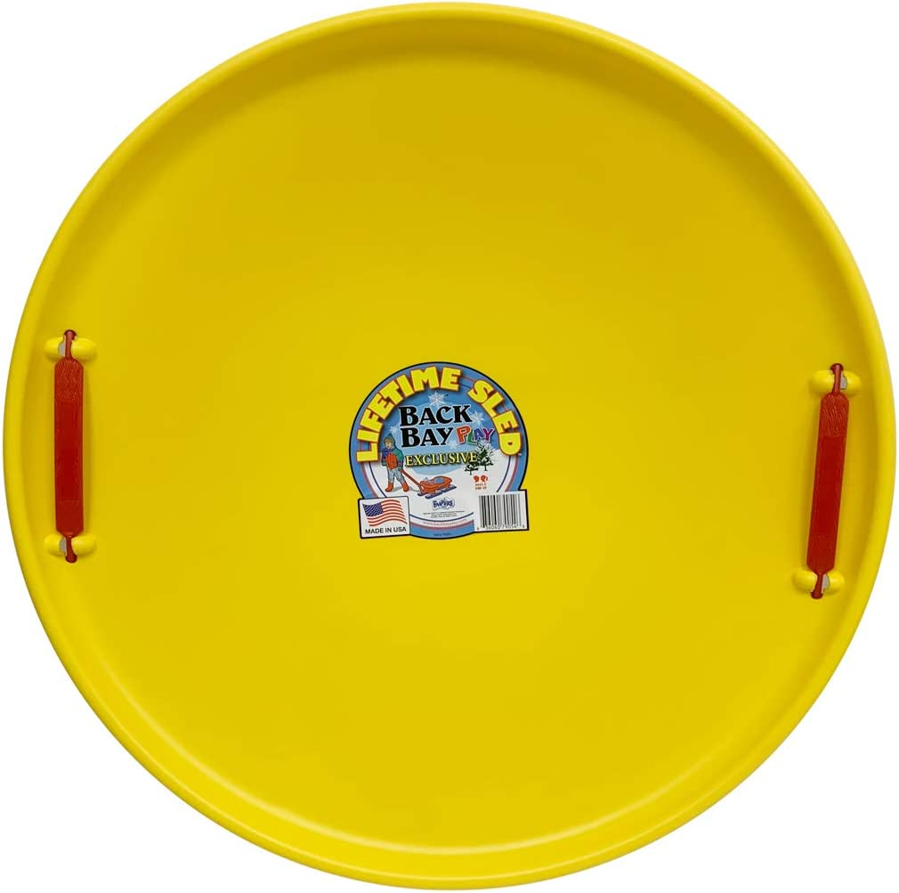 Back Fixed price for sale Bay Play Lifetime Downhill Tampa Mall Saucer with - Snow Han Disc Sled