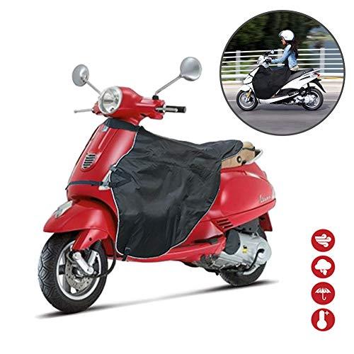 Esplic Jambe Tour Tablier Couverture Manchons De Guidon De Moto, Protège-Jambes Chaud Hiver Coupe-Vent Gants De Moto Épais pour Voitures Électriques De Scooter