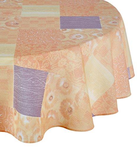 Friedola 46503 Tischdecke Flair Panama, Design-Patchwork, 160 x 210 cm halbrund
