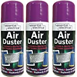 New Air Duster Spray Compressed Aerosol Can Cleans Protects Laptop Keyboard Electronics Computer Phones, Printers, Base Units, Scanners, Faxes 200ml (Pack of 3, 6, 8, 10 12) - 5707 (3)