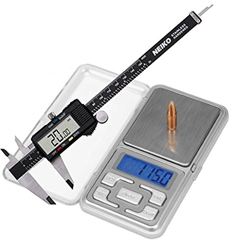 Bundle Includes 2 Items - DS-750 Digital Reloading Scale and Neiko 01407A Electronic Digital Caliper...