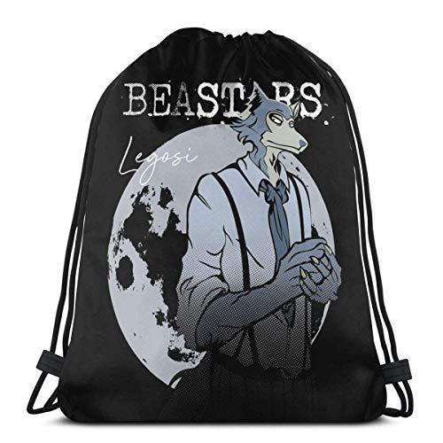 WH-CLA Drawstring Backpack Bags,Wolf Princess Mononoke School Backpack Lightweight Gym Bag Stylish String Backpack Portable Sack Drawstring For Kids Teens Adults