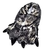 Millffy Funny Slippers Grizzly Bear Stuffed Animal Claw Paw Slippers Toddlers Costume Footwear (Large - (Men's Size), Black Tip Claw)