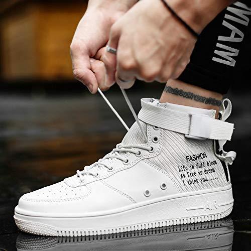 LLZGPZYDX sportschoenen, luxe merk, heren, casual schoenen, linnen, veters, ademend, hoogwaardig, sneakers voor verliefden, hoge schoenen MB-62