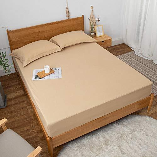 GTWOZNB Protector de colchón/Cubre colchón Acolchado de Fibra antiácaros, Transpirable, Sábana Impermeable para Aislamiento de orina-5_180 * 220cm