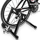 DRMOIS Bicicleta estática plegable, incluye cambio de 6 marchas para bicicleta de carreras, 26-29 pulgadas, acero