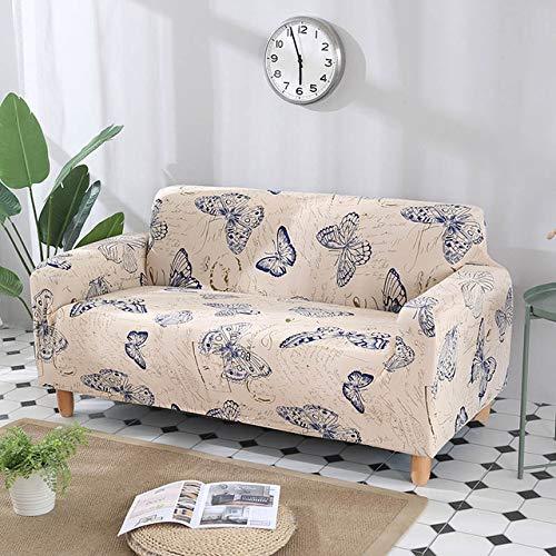Hjku Baumwoll-Stretch All-inclusive Eck-Sofaüberwurf, Farbe 8,2-Sitzer 145–185 cm