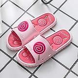 Sandalia Delicada,Las Parejas de Ropa Exterior de Moda se quitan los Zapatos con Suelas Gruesas, Sandalias Antideslizantes de baño para el baño en casa-1 Pink_40 / 41,Sandalias con Tira al Tobillo