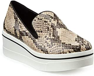 Women's Low Top Reptile Sneaker Shoes Black/Brown