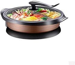 LITINGT Wok électrique Pot à feu électrique Multifonction 2 Ménage électrique à ébullition Pot Chaud Cuisson 4 Rôtis frits...