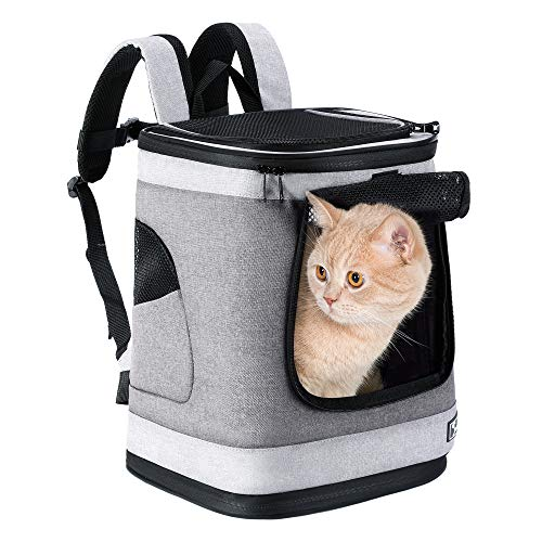 PETTOM Mochila para Perro Gatos Conejo Transpirable Plegable Pet Backpack para Mascotas...