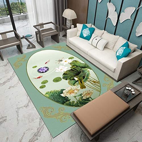 XQAQX tapijt en tapijt in Chinese stijl in de woonkamer, slaapkamer, bekleding, badmat (80 x 120 cm, 120 x 160 cm, 140 x 200 cm) Carpet Rugs 120x160cm  Oro rosa + oro rosa