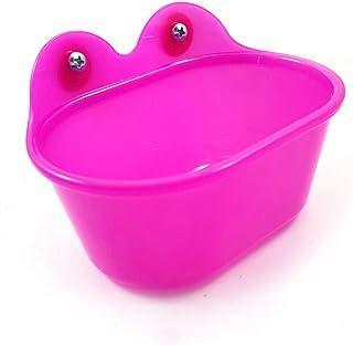 Hypeety Bird Bathroom Accessory Portable Bird Bath Small Bird Bathtub Bath Basin Parrot Supplies Bathing Tub Bath Box for ...