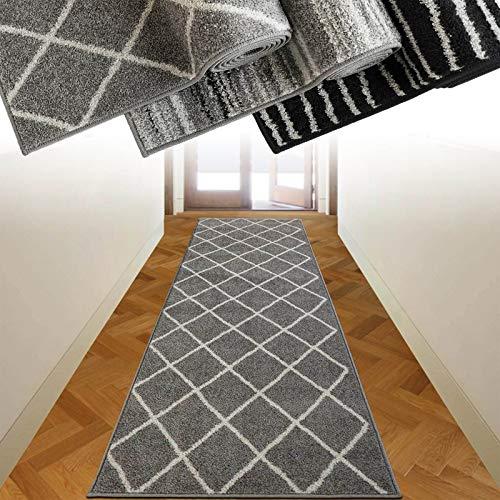 casa pura Alfombra Pasillo a Medida - Alfombra Pasillera Moderna | Alfombra por Metros para Pasillo, Habitación, Cocina | LOTTO | 3 Diseños | Malibu, 80x400 cm