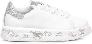 PREMIATA Sneaker Belle 4903 Bianca con Glitter Argento - Belle VAR4903 - Taglia
