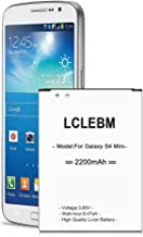 LCLEBM Galaxy S4 Mini Battery [Upgraded] S4 Mini Battery 2200mAh Battery Replacement for Samsung Galaxy S4 Mini, Not for Standard Galaxy S4