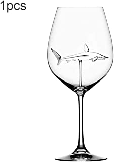 Shark Wine Glass Goblets With Box-Fun Novelty Bar Gift for Wine Lovers Party Flutes Glass Great For Bar Party Christmas,Halloween And Celebration (1pcs)