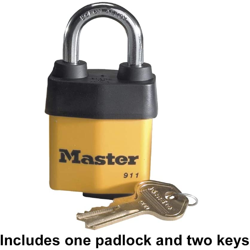 Heavy Duty Outdoor Padlock with Key 1 Pack-New