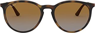 Ray-Ban Men's Injected Man Sunglass Polarized Round, RUBBER HAVANA 53 mm