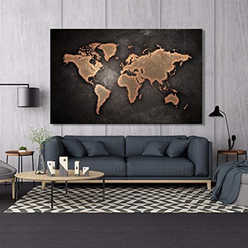 cuadro mapa mundo de la marca DADABOX