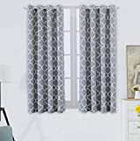 Blackout Curtains Grey for Living Room Thermal Insulated Room Darkening Window Curtain Panels with Grommets (52 x 63, Grey)