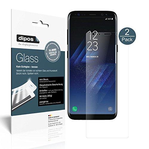 dipos I 2X Pellicola Protettiva Opaco Compatibile con Samsung Galaxy S8 Plus Protezione Vetro Flessibile 9H