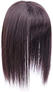 Crown Clip on Hairpiece with 3D fringe Hair Topper Natural Look Synthetic Wiglet for Thin Hair by Remeehi 14
