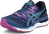 ASICS Women's Gel-Nimbus 23 Running Shoes, 7.5, Grand Shark/Digital Aqua