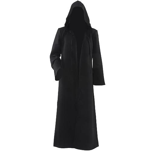 Men Hooded Robe Cloak Knight Fancy Cool Cosplay Costume f1967b932