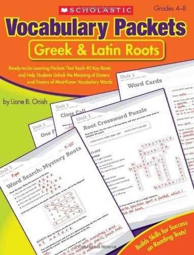 Vocabulary Packets: Prefixes & Suffixes: Ready-to-Go Learning Packets That Teach 50 Key Prefixes and Suffixes and Help Students Unlock the Meaning of Dozens and Dozens of Must-Know Vocabulary Words by Liane Onish(2010-08-01)
