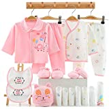 18PCS Newborn Girl Clothes Preemie Baby Outfit 0 3 Months Pants Layette Gift Set Pink