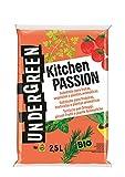 Undergreen Kitchen Passion Terriccio per Ortaggi, Piccoli Frutti e Piante Aromatiche, 2,5 lt