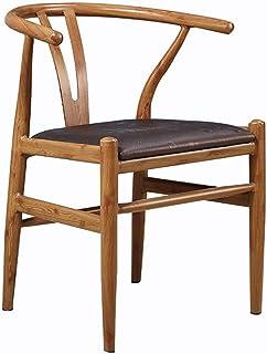 ShiSyan Silla de Comedor 2 sillas Moderno Restaurante del Hotel Marco de Madera Maciza Comedor Silla sillas Salón Cocina (Color: Marrón, Tamaño: 50cm x 53cm x 73cm) Sillas