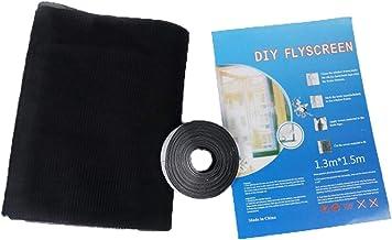 ZLIAN 3 Pack Insektengaas Net, Window Fly Screen Mesh, Klamboe For Windows, Mosquito Protector Kit Protector Met Zelfkleve...