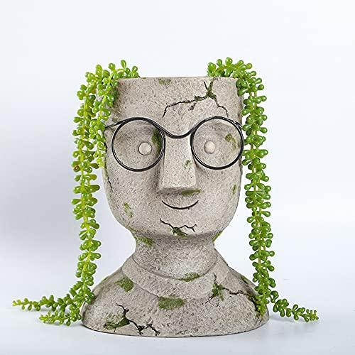 TRGCJGH Florero De Flores De Estatua,Estatua De Jardín Al Aire Libre,Maceta De Suculentas, Maceta Pequeña, Florero, Estatua Creativa, Decoración para El Hogar Y El Jardín