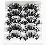 DOFASAYI Combinación de pestañas postizas en 3D, (5 Pares) Las pestañas postizas Son pestañas postizas naturalmente Suaves, utilizadas para la expansión de pestañas de Maquillaje, agrandar los Ojos