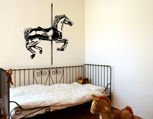 Carousel Horse Set キャンペーンもお見逃しなく Wall Decal 1年保証 by Style Apply - V Sticker