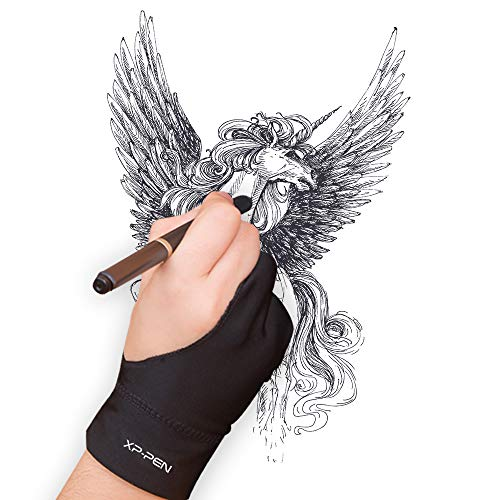 XP-PEN Elastisch Lycra Antifouling Handschuh für Grafiktablett/Pen Display/Leuchtkasten (Geeignet für rechts und Links) (M)