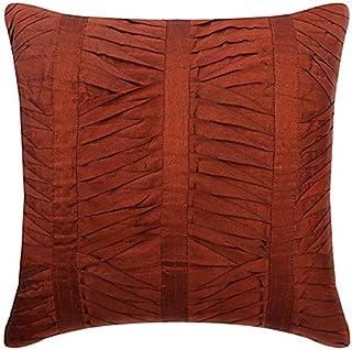 55x55 cm Housses De Coussin, Rouille Couverture D'Oreillers, Texture Plis Nervurés Couverture D'Oreillers, Art Silk Modern...