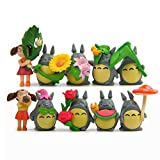 weichuang Adornos 10pcs / Set del PVC de Totoro Lindo Decorativo Figurines pequeños Adornos en Maceta de jardín de Escritorio del Dormitorio Regalos Estudio Decoración Manualidades Mobiliario